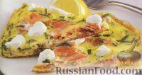 Фото к рецепту: Омлет с лососем и сливочным сыром