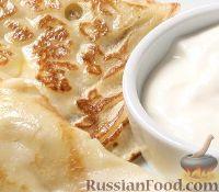 Фото к рецепту: Русские блины со сметаной