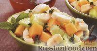 Фото к рецепту: Фруктовый салат из дыни и банана