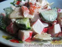 Фото к рецепту: Вкусный салат с крабовым мясом