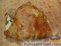 Фото к рецепту: Курица, фаршированная рисом
