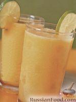 Фото к рецепту: Смузи из дыни, персика и лайма