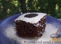 Фото к рецепту: Очень шоколадный бисквит