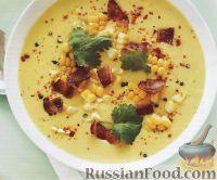 Фото к рецепту: Суп-пюре с кукурузой и беконом