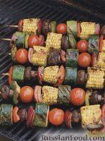 Фото к рецепту: Овощные шашлыки