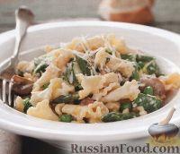 Фото к рецепту: Макароны со спаржей в сливочном соусе