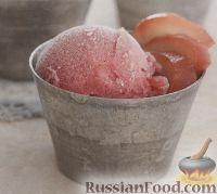 Фото к рецепту: Гранатовый сорбет с грушей