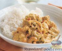 Фото к рецепту: Курятина в нежном сливочном соусе