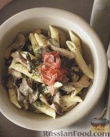 Фото к рецепту: Макароны с грибами и сыром