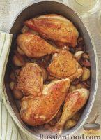 Фото к рецепту: Курица, жаренная с овощами