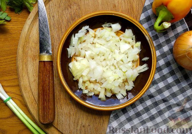 Фото приготовления рецепта: Печень индейки с луком - шаг №9
