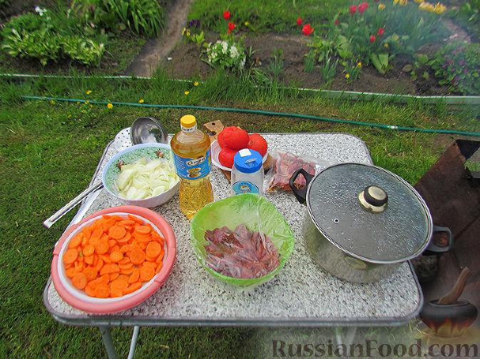 Фото приготовления рецепта: Бограч - венгерский суп - шаг №1