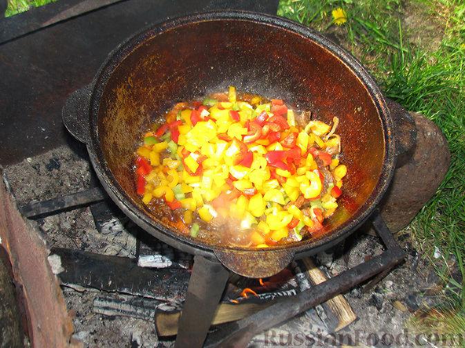 Фото приготовления рецепта: Бограч - венгерский суп - шаг №5