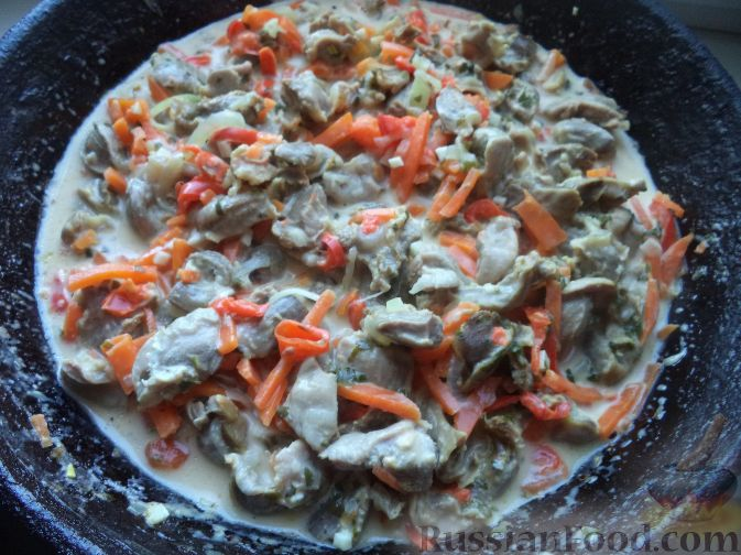 Желудки с овощами рецепт с фото пошагово