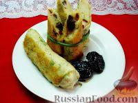 Фото к рецепту: Зеленые блины с необычной начинкой