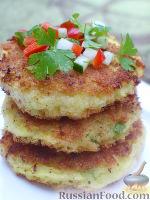 Фото к рецепту: Сырно-картофельные блинчики