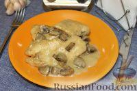 Фото к рецепту: Курица с розмарином и грибами