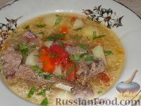 Фото к рецепту: Домашний суп из утки