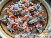 Фото к рецепту: Куриные желудочки с овощами