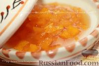 Фото к рецепту: Тыквенное варенье с мандаринами (вариант с имбирем и лимоном)