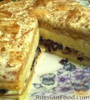 Фото к рецепту: Вкусный торт с фруктами и орехами