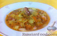 Фото к рецепту: Рассольник с квашеной капустой и фасолью