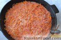 Фото приготовления рецепта: Рыба, запеченная в духовке с овощами, под соусом - шаг №11