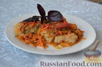 Фото приготовления рецепта: Рыба, запеченная в духовке с овощами, под соусом - шаг №13