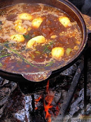 Фото приготовления рецепта: Шурпа персидская - шаг №9