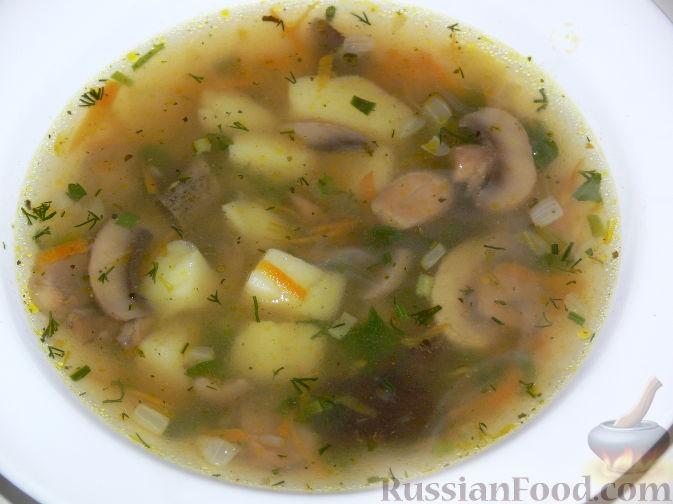 Грибной суп в горшочках рецепт