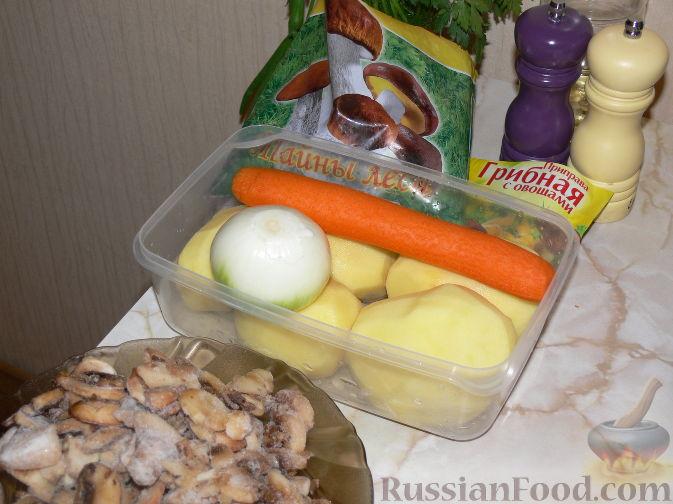 Приготовление грибного супа пошаговый рецепт