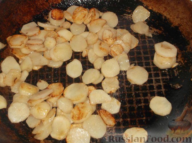 Фото приготовления рецепта: Топинамбур жареный - шаг №4