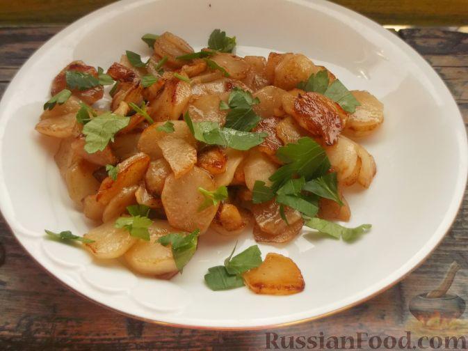 Фото приготовления рецепта: Топинамбур жареный - шаг №5