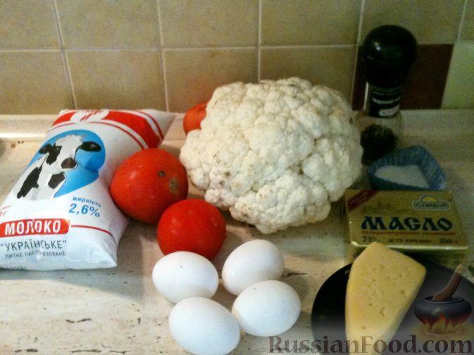 Фото приготовления рецепта: Запеканка из цветной капусты с помидорами - шаг №1