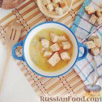 Фото к рецепту: Картофельный суп-пюре с грибами, на курином бульоне