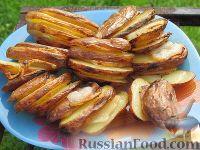 Фото к рецепту: Картопля с салом на углях
