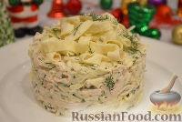 Фото к рецепту: Капустный салат с омлетом