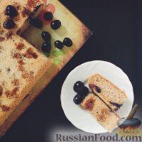 Фото к рецепту: Шарлотка с виноградом