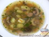 """Фото к рецепту: Грибной суп """"Ассорти"""""""