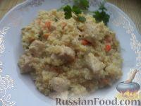 Фото к рецепту: Пшенная каша с курицей