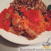 Фото к рецепту: Свинина с овощами в пароварке