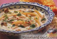 Фото к рецепту: Тайский суп с курицей на кокосовом молоке