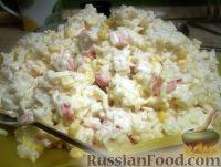 Крабовый салат рецепт классический с рисом