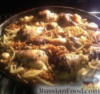 Фото приготовления рецепта: Гречка с курицей в духовке - шаг №3