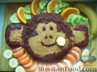 "Фото к рецепту: Торт без выпечки ""Обезьянка"""