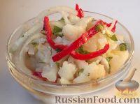 Фото к рецепту: Капуста цветная в остром маринаде