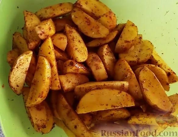 картофель по деревенски запеченные в духовке рецепт с фото
