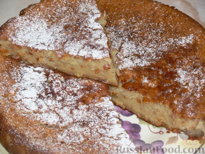 рецепт пирог с бананом
