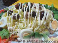 Фото к рецепту: Салат из яиц с грибами