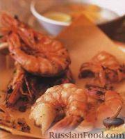 Фото к рецепту: Маринованные креветки, жаренные на гриле